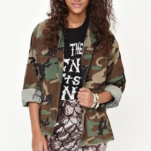 {Gold Republic of CA} Camouflage Jacket